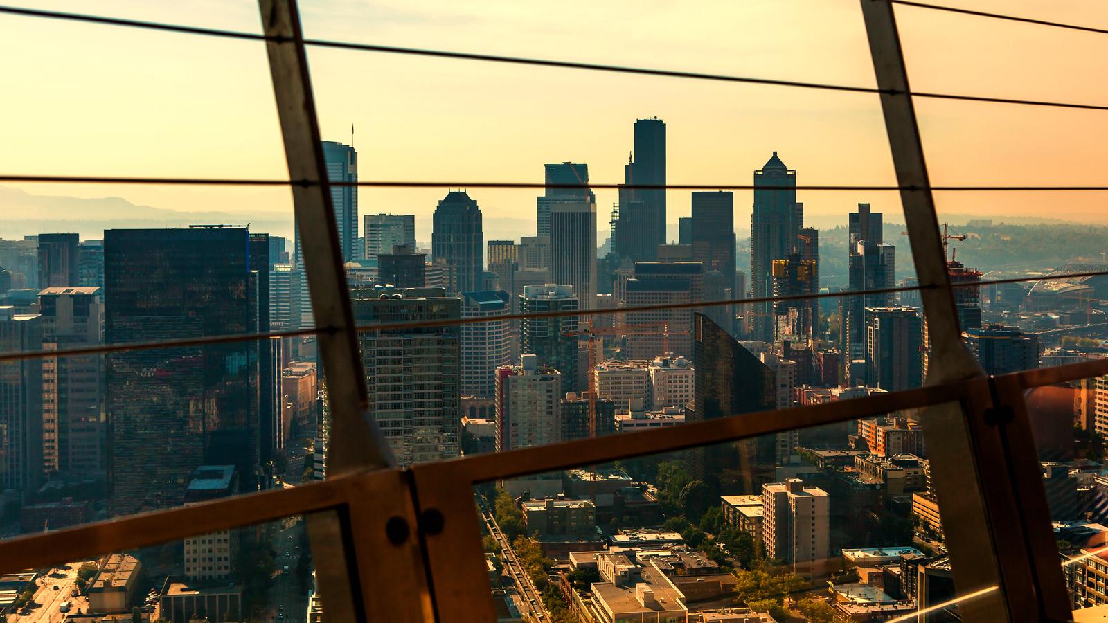 西雅圖太空針塔,頂層的視野