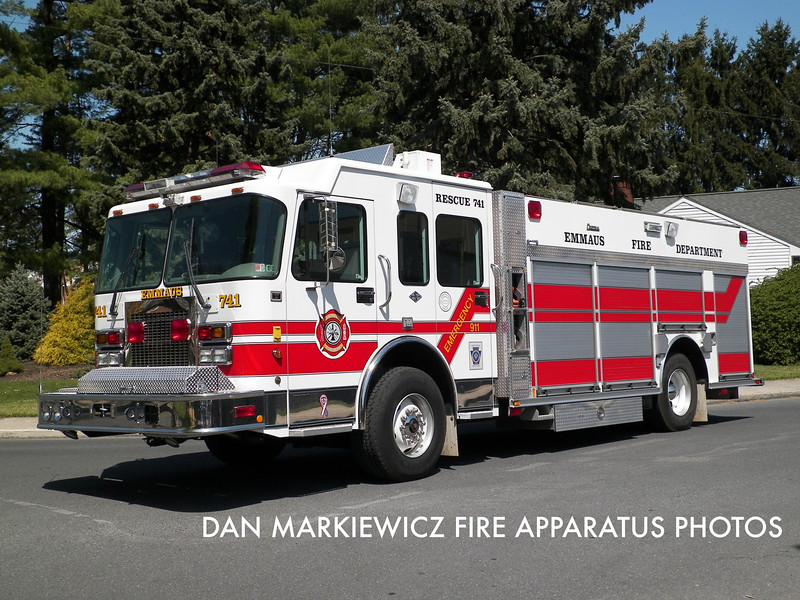 EMMAUS FIRE DEPT. RESCUE 741 2002 SPARTAN.CENTRAL STATES PUMPER RESCUE