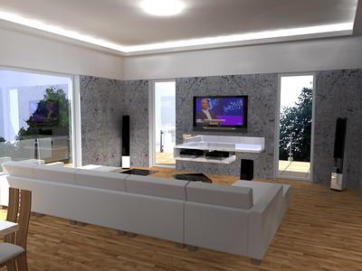 Luxusní obývací pokoj s prvky Glamour