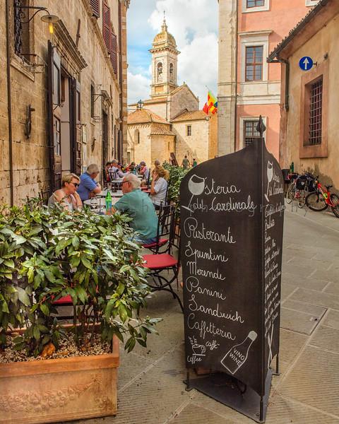 Streetside Cafe, San Quirico, Tuscany