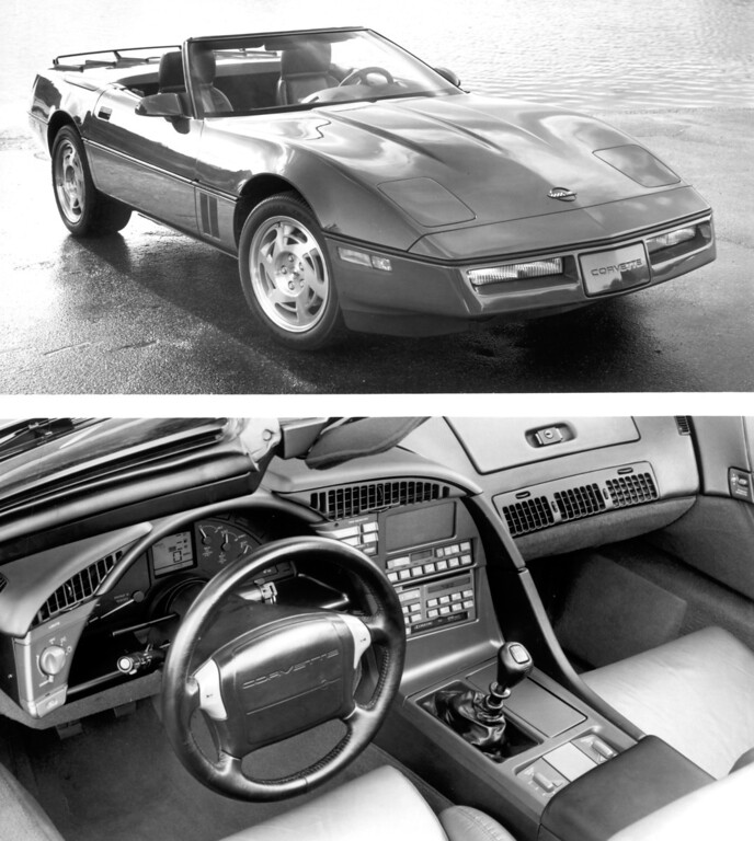 . Chevrolet\'s 1990 Corvette: gets its first major interior redesign since 1984.  Daily News file photo