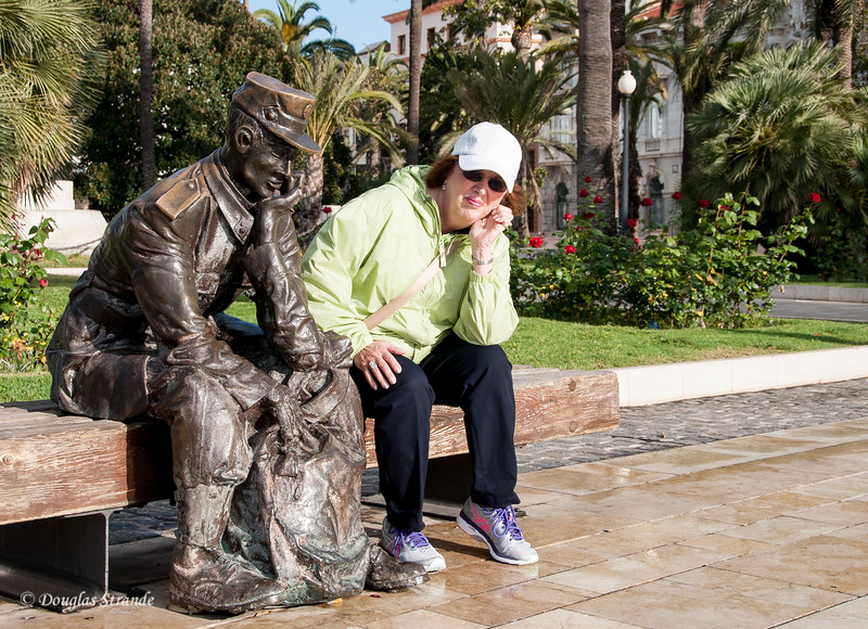 Cartagena, Spain - Louise with new friend