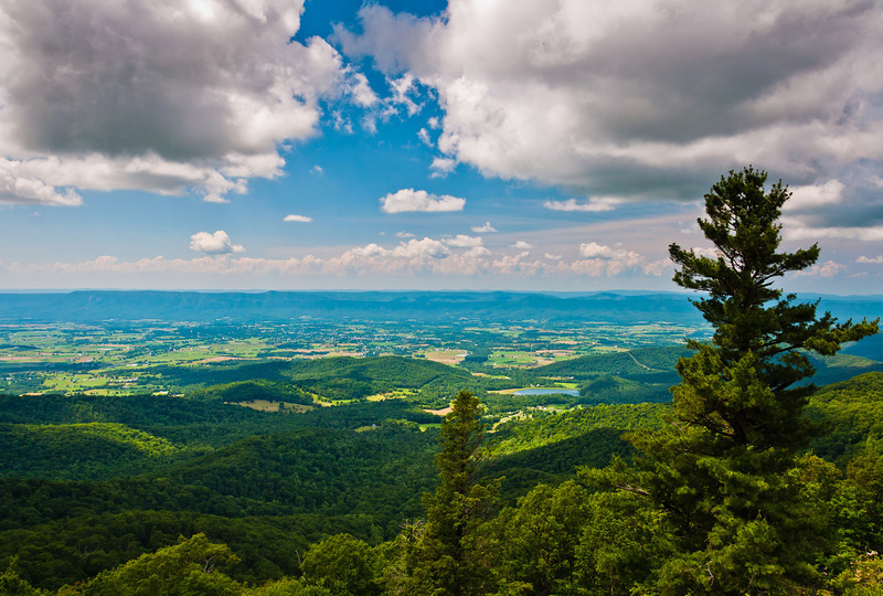 View of Shenandoah Valley and Storm Clouds Shenandoah National Park, Virginia