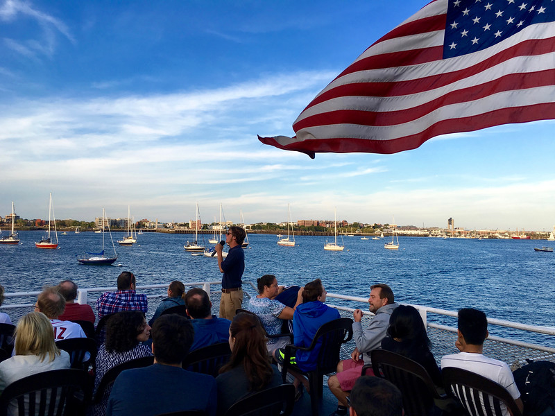 Boston Harbor Cruises sunset cruise
