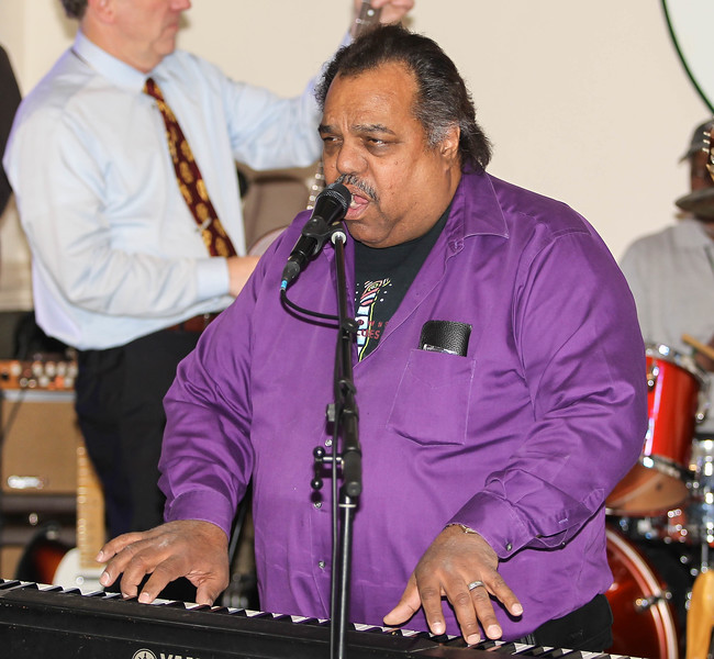 February 23, 2019: Pianist Daryl Davis plays the keyboard during his performance with the Strangers Band during the Winter Dinner/Dance Christmas in April event in Clinton. Photo by: Chris Thompkins/Prince George's Sentinel