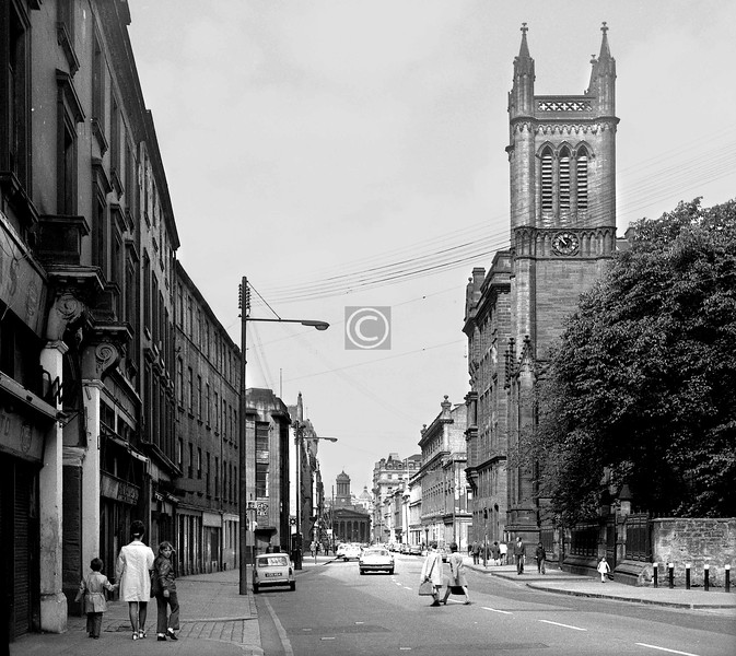 Ingram St west from Albion St.    July 1973