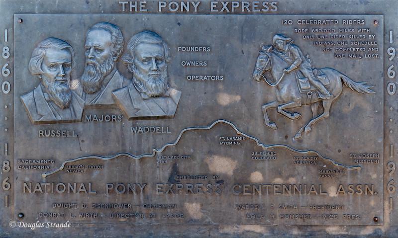 Pony Express Plaque