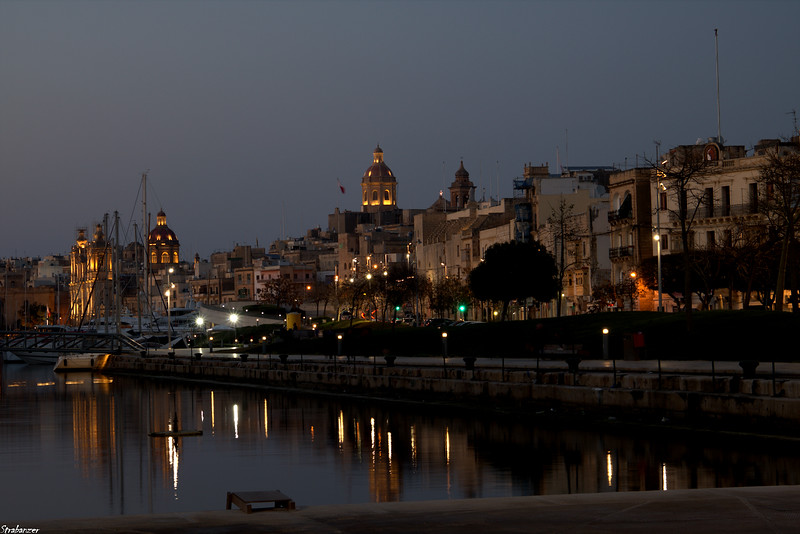 Bormla, Malta.   St Lawrence's Church at left   03/24/2019