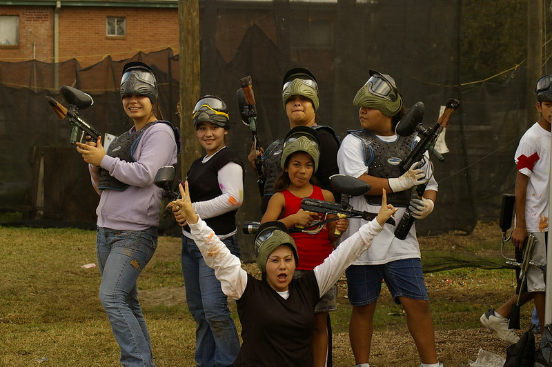 Girls Paintball!