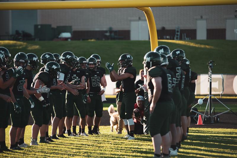 Holy Family Varsity Football vs. Mound Westonka, 8/29/19: Captain Nate Tinucci '20 (1)