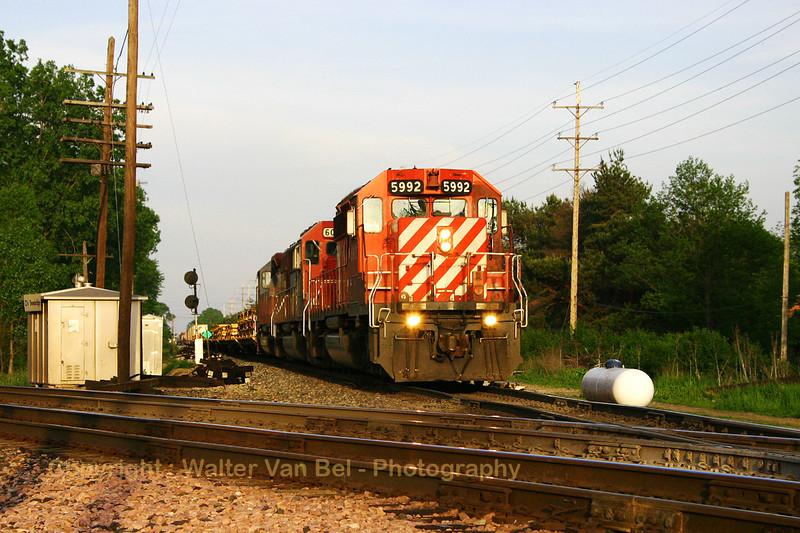 Railroad crossing at East Lansing, Michigan, USA