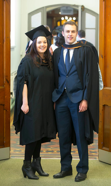 Waterford Institute Of Technology Conferring. Pictured at WIT Waterford Institute Of Technology Conferring are Catheriona White and Sean Woodward who graduated Bachelor of Arts (Hons) in Marketing. Picture: Patrick Browne