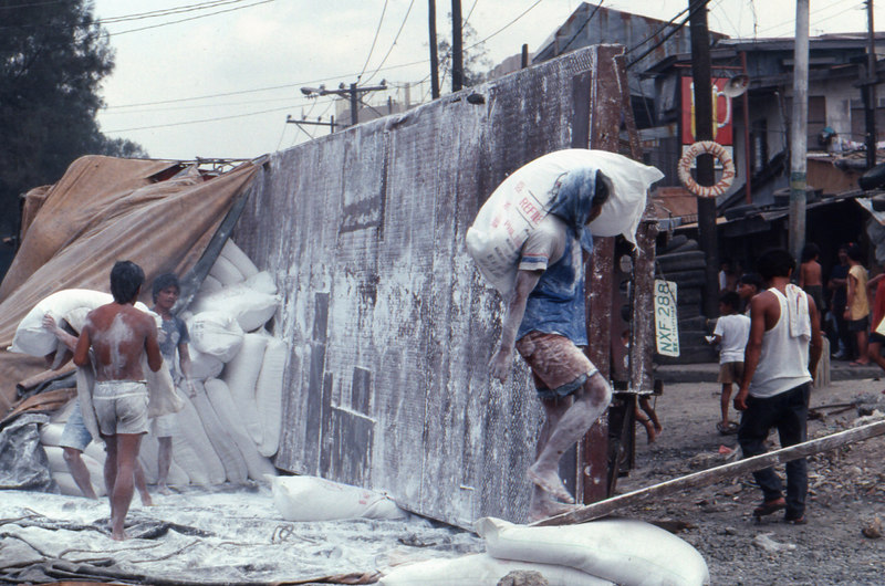 Flour workers in Manila.