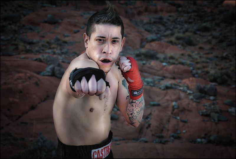 Muay Thai Fighter Anthony Castrejon of Las Vegas.