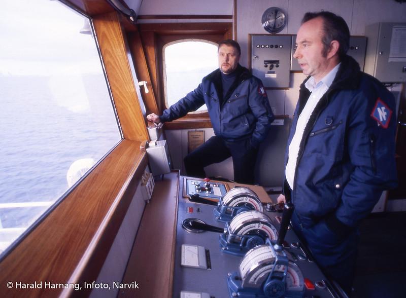 Skipper og mannskap på Stetind, ferge.