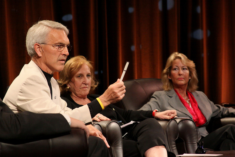 """""""SNS Project Inkwell: From Utah to Africa"""": (L-R) David Engle, U.S. Director of Operations, Project Inkwell, and Superintendent, North Platte Public Schools; Kathy Hurley, SVP, Pearson Learning;  and Sharon Anderson-Morris, SNS Programs Director, and Project Inkwell Africa"""
