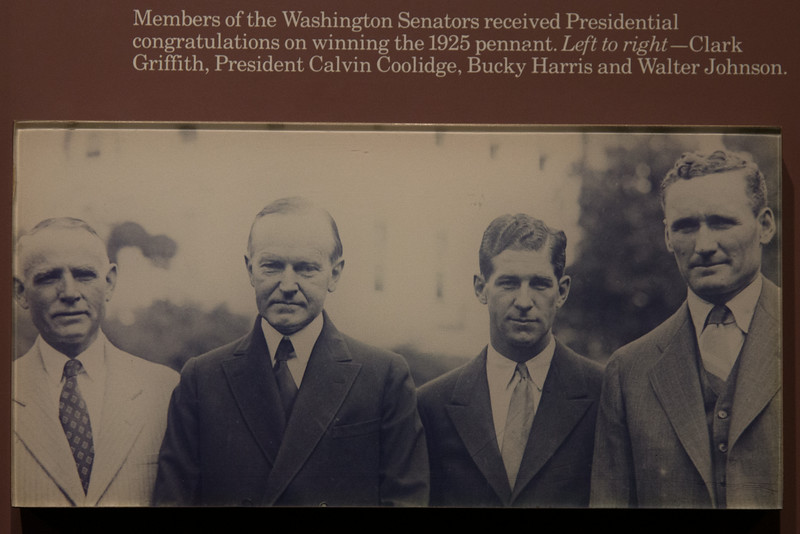 photo of Walter Johnson, President Coolidge, Clark Griffith, & Bucky Harris -- A trip to the Baseball Hall of Fame, Cooperstown, NY, June 2014