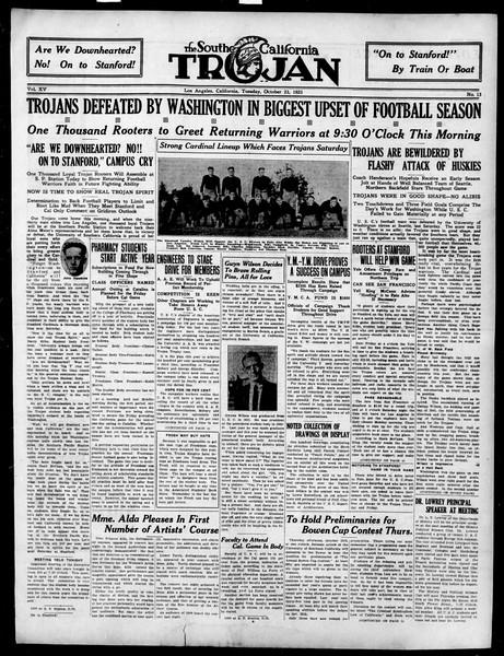 The Southern California Trojan, Vol. 15, No. 13, October 23, 1923