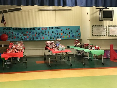 Prof. Cynthia Davis, AHF Toy Giveaway at Lincoln Elementary School