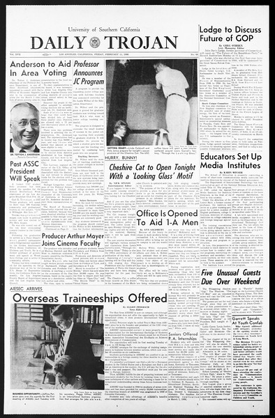 Daily Trojan, Vol. 57, No. 66, February 11, 1966