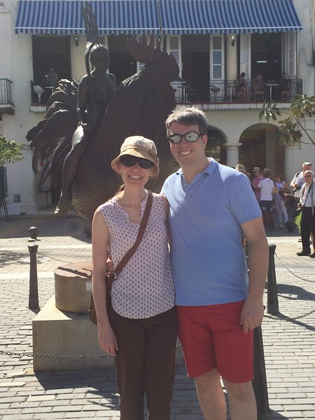 Natalie and Keith at Plaza Vieja - Kristin Cass