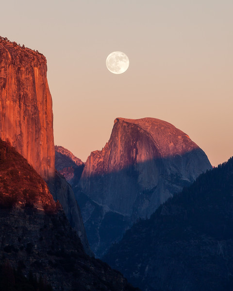 Yosemite Super Moon Landscape Photography Half Dome sunset.jpg