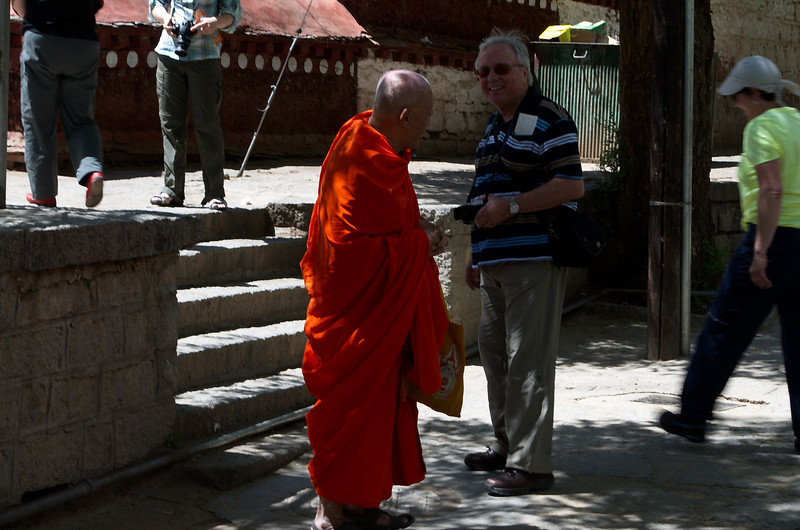 Matthias at the Sera Monastery.