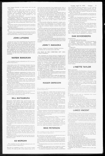 Daily Trojan, Vol. 67, No. 107, April 15, 1975