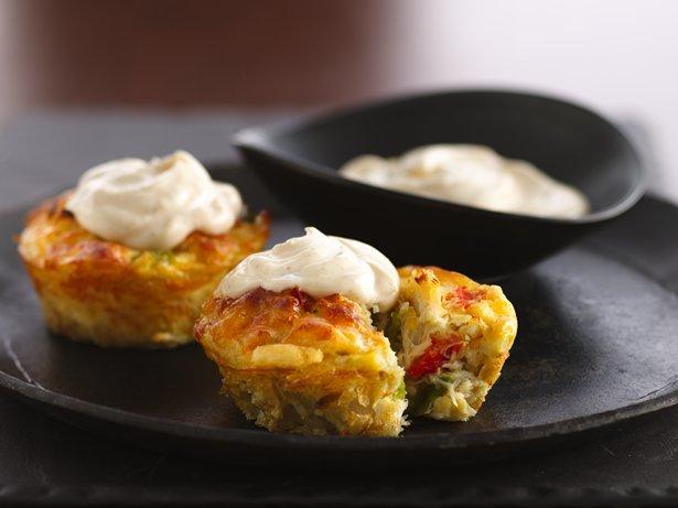 Description of . Impossibly Easy Mini Crab Cake Pies Betty Crocker