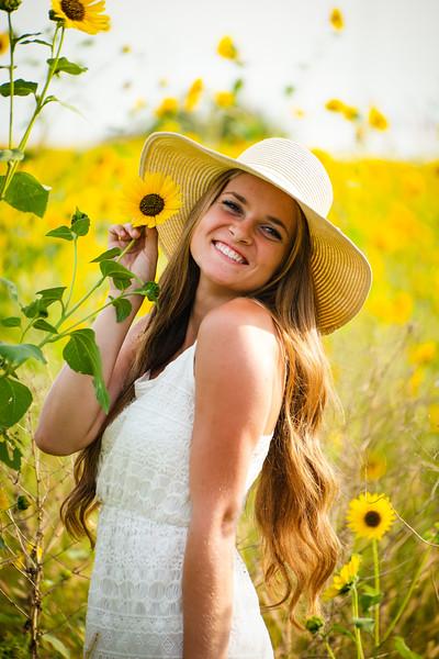 20150903 Talia and Sunflowers