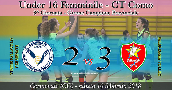 CO-U16f: Virtus Cermenate - Valbreggia Volley