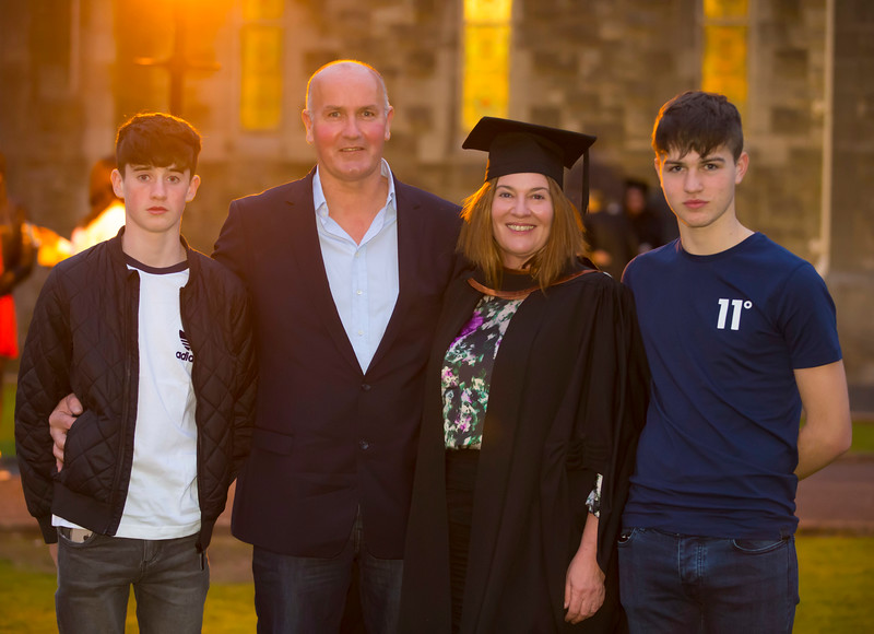 02/11/2017. Waterford Institute of Technology Conferring is Anne Tweedy, Templetown, Co. Wexford with her family Robbie, Philip and jimmy. Picture: Patrick Browne.