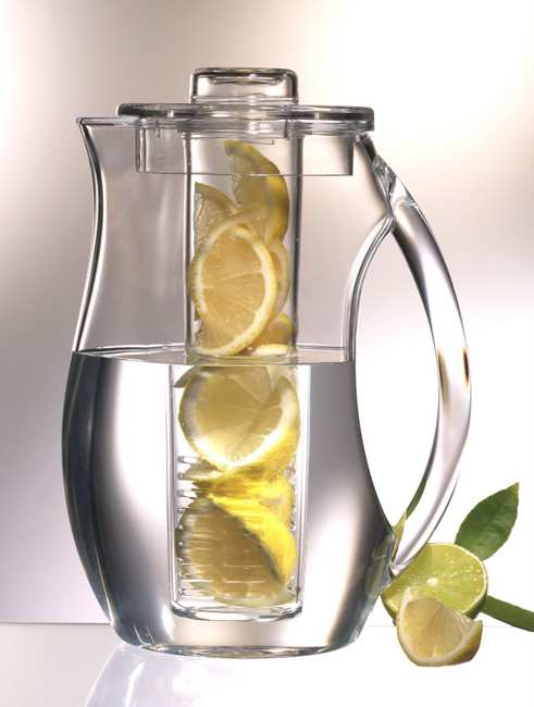 . This pretty pitcher adds fresh fruit to your water, lemonade or iced tea, giving your drink a boost in flavor. Prodyne Fruit Infusion Pitcher (92 ounces, $19.99) at Target.com and Bed Bath & Beyond.