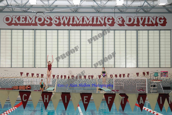 Okemos Girls diving practice