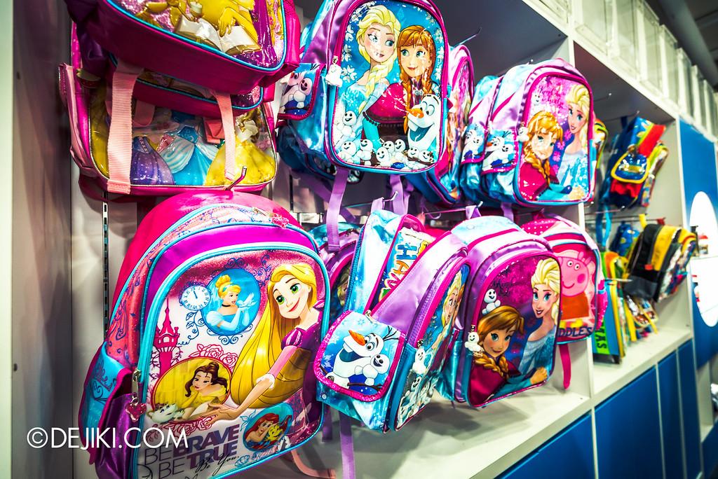 Underwater World Singapore - Disney backpacks