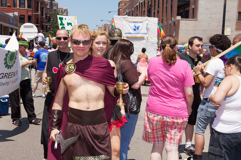 Scene from the Chicago Pride Parade, 2011.