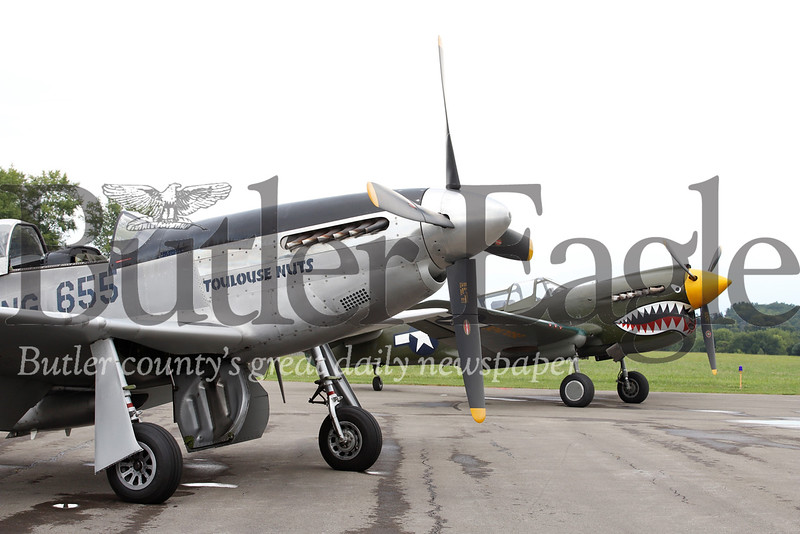 Left: P-51 fighter Right: P-40 fighter  Seb Foltz/Butler Eagle