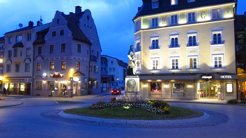 Füssen, Germany at night