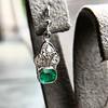 2.00ctw+ Emerald and Diamond Art Deco Conversion Earrings 21