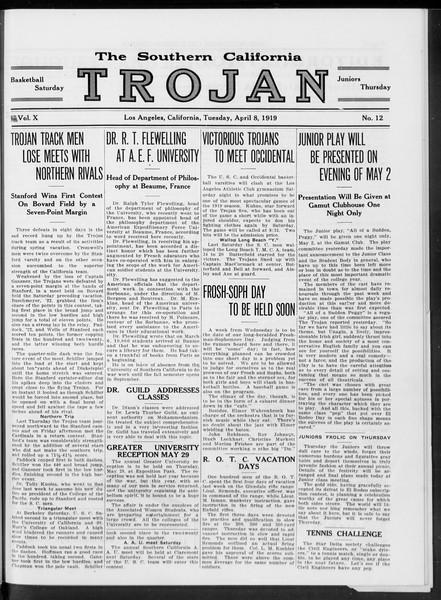 The Southern California Trojan, Vol. 10, No. 12, April 08, 1919