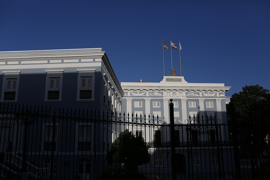 . The Governors mansion is seen a day after Puerto Rican Governor Alejandro Garcia Padilla gave a speech regarding the government\'s $72 billion debt on June 30, 2015 in San Juan, Puerto Rico.  The Governor said in his speech that the people will have to sacrifice and share in the responsibilities for pulling the island out of debt.  (Photo by Joe Raedle/Getty Images)