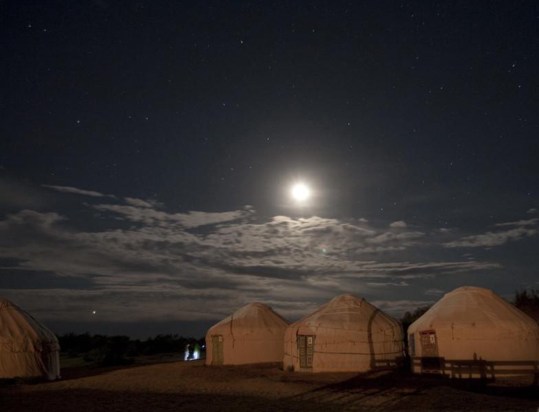 ...and yurts.