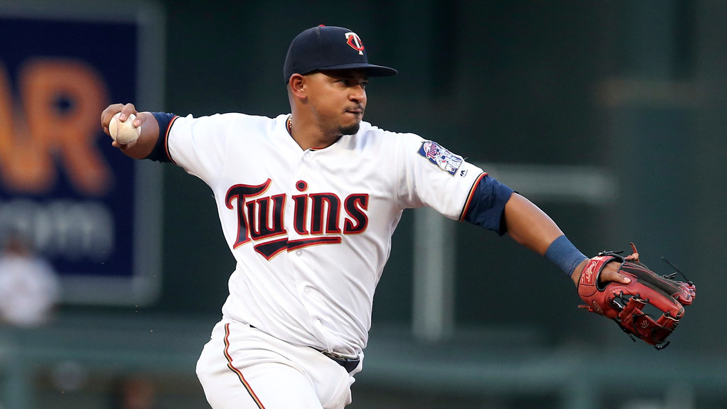 . Minnesota Twins\' Eduardo Escobar plays against the Cleveland Indians in a baseball game Thursday, May 31, 2018, in Minneapolis. (AP Photo/Jim Mone)