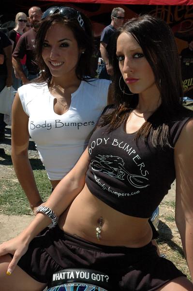 Samatha and Danielle D - Carlisle Summer Bikefest - July 21, 2007 - Nikon D50 - Mark Teicher
