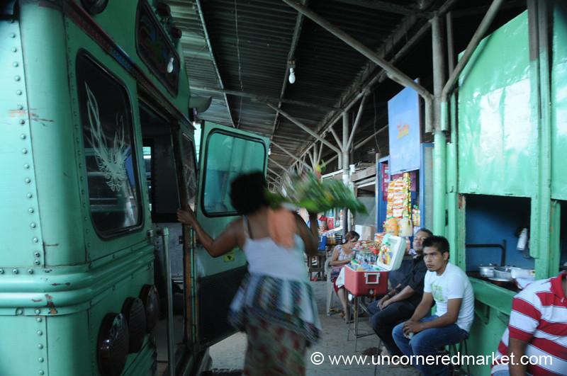Vendor from the Bus - Santa Ana, El Salvador