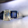 2.83ctw Vintage Emerald Diamond and Sapphire Trilogy Ring 26
