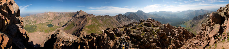 Panorama from Snow Peak, Gore Range, CO
