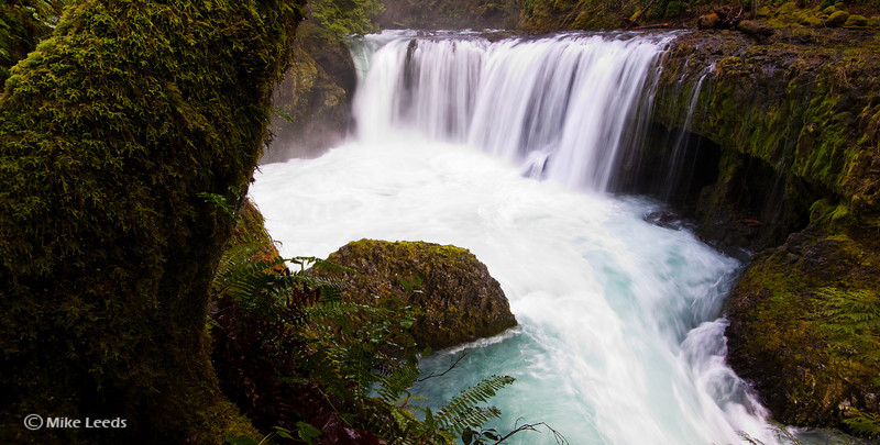 Spirit Falls on the Little White Salmon River, Washington.