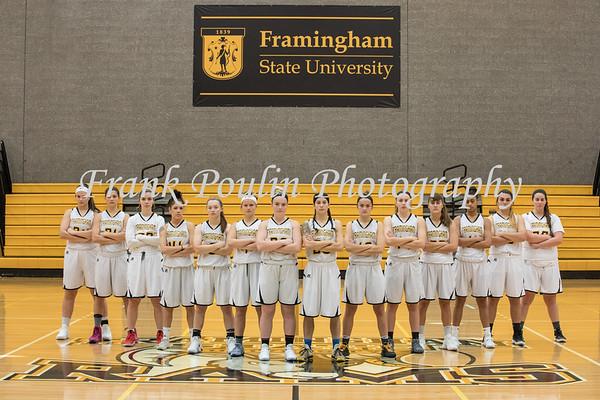 Framingham State women's basketball headshots 2017-2018