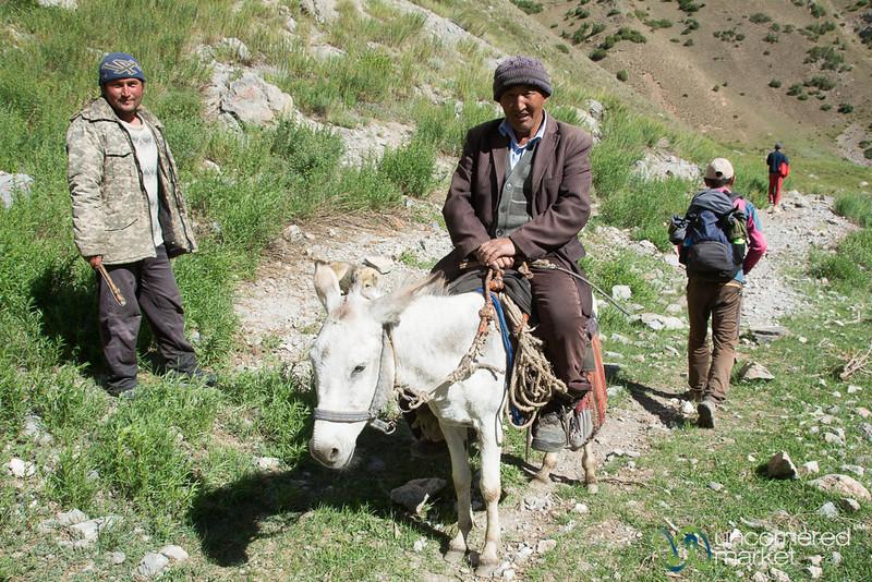 Meeting Shepherds Along the Trail - Alay Mountains, Kyrgyzstan